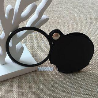 3 Stück 8x 60mm Einschlaglupe Taschen Lupe Zum Lesen Lederholster Bild