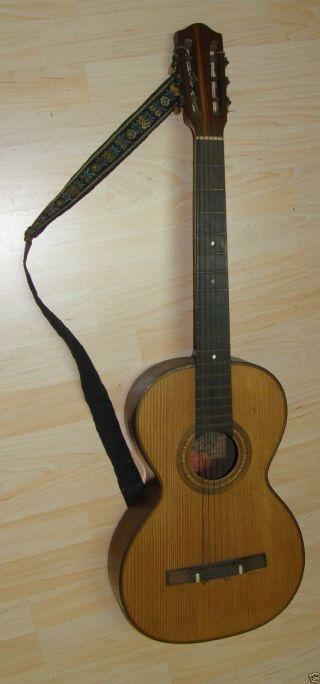 Uralte Gitarre Salvador Ibanez Spanien Meistergitarre ? Zum Restaurieren Deko Bild