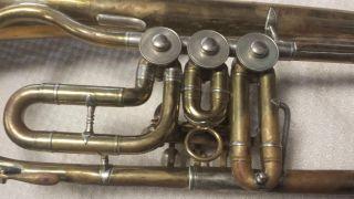 Altes Fluglehorn Trumpet M & G Voigt Markneukirchen Horn Tuba Blasinstrument Bild