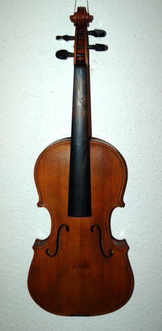 Schöne Alte 4/4 Geige - Violine - Um 1920 Bild