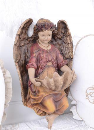 Jugendstil Engel & Weihwasserschale Antik Weihwasserbecken Shabby Bild
