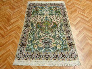 Orientteppich Teppich Seidenteppich Palast 140x94 Tip Top Unikat Bild