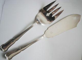 Fischvorlegebesteck Silber 800 Pfeil Robbe Berking Alt - Chippendale ? 202 Gramm Bild