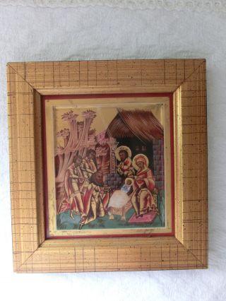 Miniatur - Reise - Ikone Christi Geburt Heinrich V&b Motiv Nr.  3 Bild
