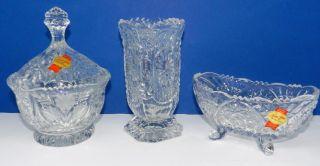 Anna Hütte Bleikristall 3 Teilig Schalen Und Vase Sammler Bild