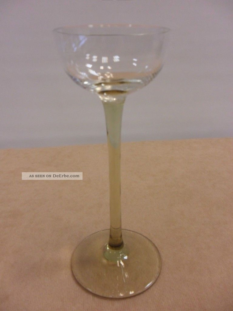 Antik Jugendstil Likörglas Stengelglas Sammler Verre De Liqueur Liqueur Glass Sammlerglas Bild