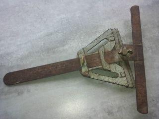 Altes Metall Werkzeug - Zimmermann,  Parkett - Fliesenleger Winkelschmiege Um 1900 Bild