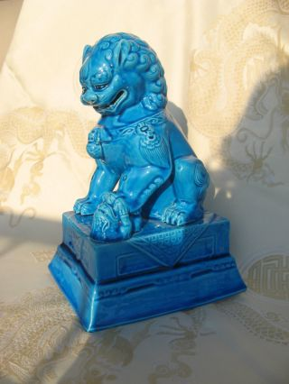 Impressing Antique Guardian Lion Shi Foo Dog TempelwÄchter TÜrkis China 20.  Jh. Bild