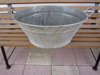 Schöne Alte Antike Zink Wanne,  Asch,  Badewanne,  Zuber Bild