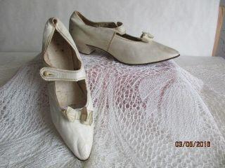 Antikes Paar Damen Schuhe Um 1900 Glacé Leder Lederschuhe Gr.  41 Glacéleder Bild