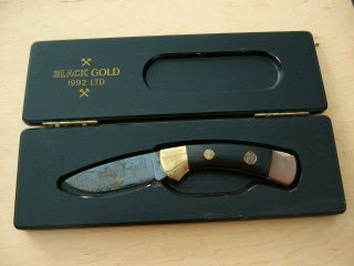 Solinger BÖker Messer Mit Nr.  4792 In Holzschachtel Black Gold 1992 Ltd Bild