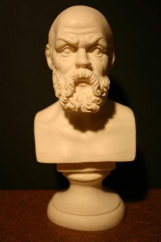 Alabaster - Büste Von Socrate Bild