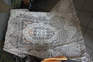 Traum Raritat Kunst Leinen Tischdecke Madeira Stickerei,  Grappoli Point De Venice Bild