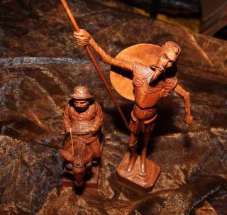 Holzfigur Holzschnitzerei Don Quichotte Und Sancho Panza,  Quro,  Spanien Bild