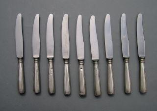 Alte 9 Silbermesser: Vietor: 800er Silber: Ca.  500g Bild