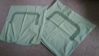 2 Stück Kopfkissen - Bezüge Grün,  Klöppelspitze 82 Cm X 75 Cm,  Paradekissen Bild