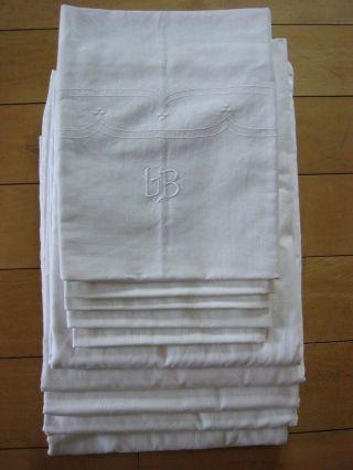 10 Teile Bettwäsche Aus Großmutter ' S Nachlass 5 Bezüge Mit Kissen Weißwäsche Bild