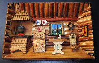 Altes Handgefertigtes 3 D Holzbild Reliefbild Bauernstube 20x30cm Relief Holz Bild