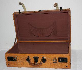 Lederkoffer 2,  Vintage,  Oldtimerkoffer,  Lederbänder,  Schnappverschuss,  Innenfach Bild