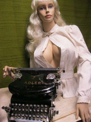 Top 1.  Adler Schreibmaschine Modell 7 System Stoßstangen Bj.  Ab 1899 Typewriter Bild