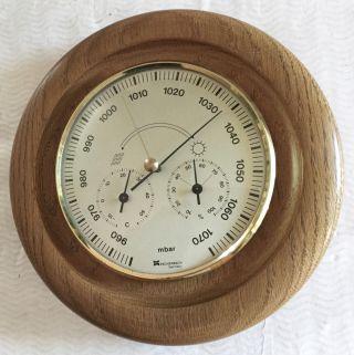 Alte Eschenbach Wetterstation Mit Barometer,  Hygrometer & Thermometer Bild