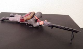 Massesoldat Mit Maschinengewehr,  Elastolin,  Lineol,  Selten Angeboten,  Top Bild