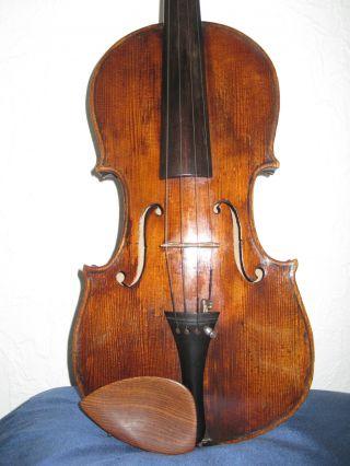 Gutklingende Uralte Violine Inschrift.  Fernandus Aug.  Homolka 1869 Bild