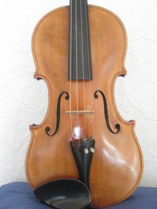 Exzellente 4/4 Violine Stempel Etikett (michael Strobl 1938) Bild