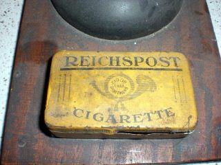 Antike Waage RaritÄt Postwaage Feinwaage Apothekenwaage Gewichte Hornschalen Top Bild
