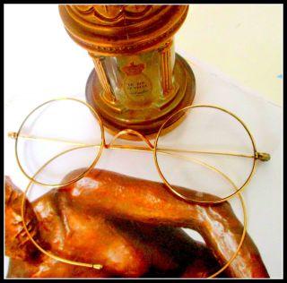 Luxus Gold Brille Optiker Nachlass 1900 Sehr Edel Federleicht Biegsame Bügel Bild