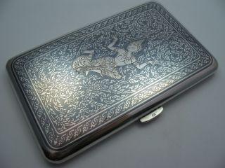 Siam : WunderschÖnes Großes Altes Zigarettenetui Um 1940 Aus 925 Sterling Silber Bild