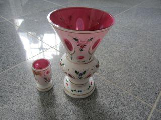 2869 2 Vasen Poschinger Mundgeblasen Handarbeit Bild