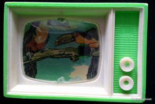 Gucki Plastiskop Vom Vogelpark Walsrode.  Miniatur Fernsehapparat Bild