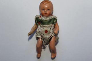 Sehr Alte Puppe PÜppchen - MÄdchen - 7,  5cm Herst.  Vermtl.  Edi - - Ori Bild