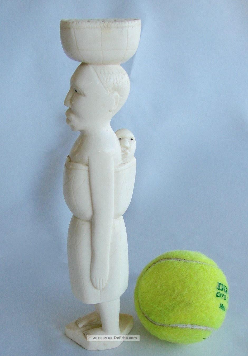 Naive Afrikanische Figur,  Feine Beinarbeit,  Fine Bone,  21,  5 Cm,  265 G Beinarbeiten Bild