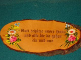 Holz Brett Mit Spruch Auf Baumscheibe Blumen Malerei Bild