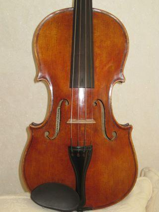 3 Tage ältere Violine.  Michael Reindl Mittenwald 1935 Bild