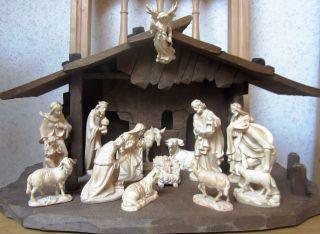 Konvolut - Krippenfiguren Geschnitzt Von Kostner,  Krippe,  Grödnertal,  Südtirol Bild