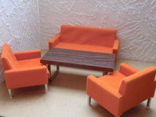 Couch - Garnitur 70iger Jahre Bodo Hennig Für Puppenstube 1:10 Bild