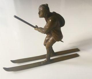 Wiener Bronze Miniatur Skiläufer / Vienna Bronze Miniature Skier 1910s Bild