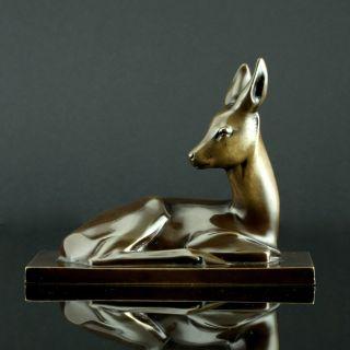 Reh Bronze Animalier Um 1920 Tierskulptur Art Deco Bild
