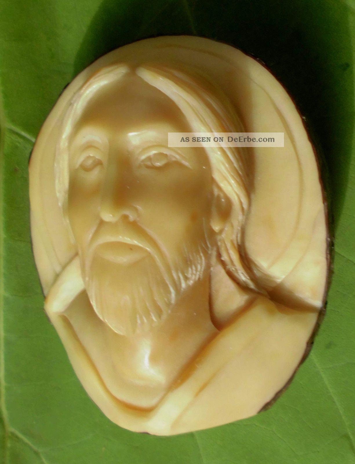 Christus Drstellung,  Geschnitzt Aus Einer Tagua - Nuss Beinarbeiten Bild