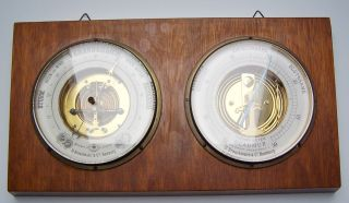D.  R.  P.  Optisches Institut D.  Brauckmann & Co Hamburg Barometer Thermometer Bild