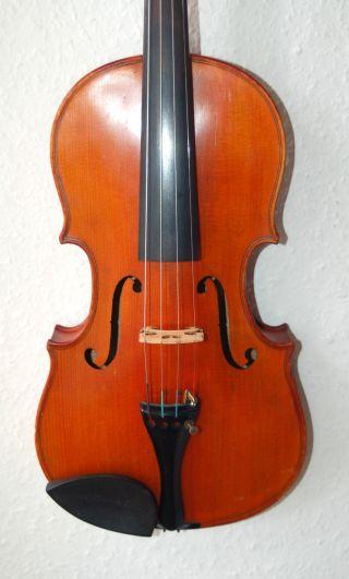 Feine,  Handgemachte 3/4 Geige - Violine - Um 1920 - Mit 4 Eckklötzchen Bild