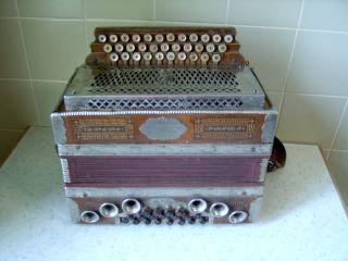 Alte Steirische Harmonika - Stachl Doppelpatent - Bj.  4/1924 Bild