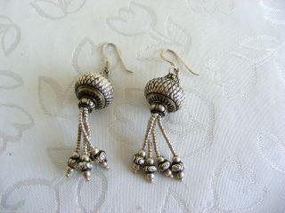 Ausgefallene Lange Orientalische Ohrhänger,  Silber925 Bild