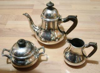 3 Tlg.  Holländ.  Kaffeeservice 824 Gramm Silber 925 Utrecht Van Kempen Vk Bild