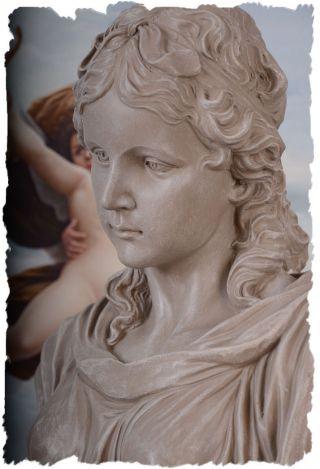 MÄdchenkopf Statue BÜste FrauenbÜste Historische Skulptur Antik Kopf Bild