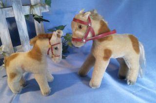 2 Ponies Von Steiff,  14,  17 Cm / 2 Steiff Ponies,  14,  17 Cm Bild