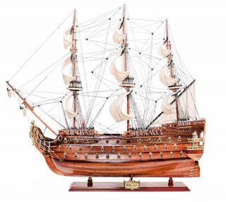 Schiffsmodell Royal Louis - Länge 94cm Aus Holz,  Aufwendige Handarbeit Bild